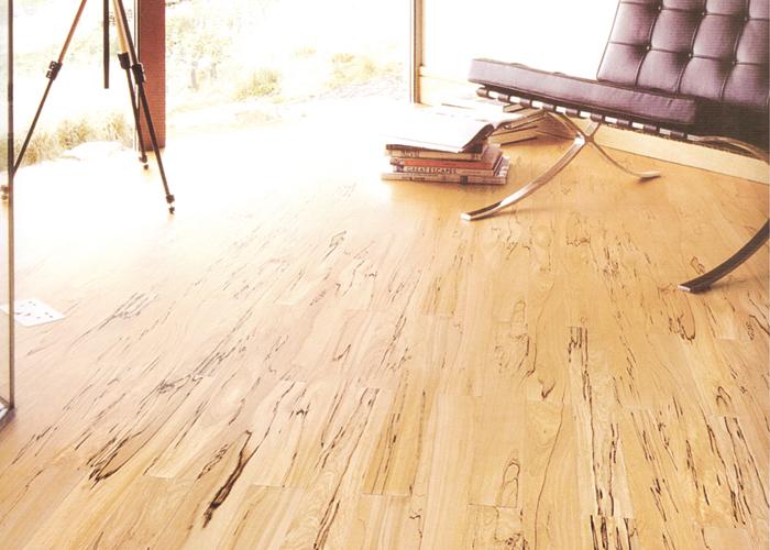 Solid parquet flooring black birch